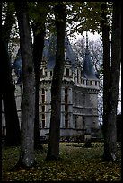 Azay-le-rideau chateau and Park. Loire Valley, France (color)