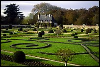Gardens of Chenonceaux chateau. Loire Valley, France