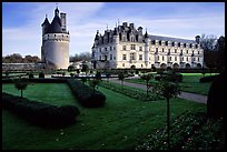 Chenonceaux chateau and gardens. Loire Valley, France