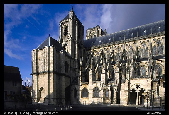 Saint-Etienne Cathedral. Bourges, Berry, France (color)