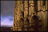 Cathedrale  Saint-Etienne de Bourges  and rainbow. Bourges, Berry, France ( color)