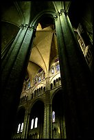 Columns inside Saint-Etienne Cathedral. Bourges, Berry, France ( color)