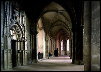 Outer  aisle,  the Saint-Etienne Cathedral. Bourges, Berry, France ( color)
