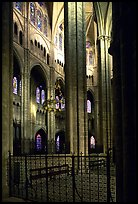 Interior view from choir, Saint-Etienne Cathedral. Bourges, Berry, France ( color)