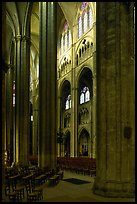 Interior of Gothic Bourges Cathedral. Bourges, Berry, France