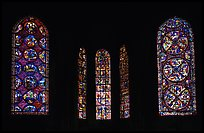 Stained glass windows, Bourges Cathedral. Bourges, Berry, France (color)