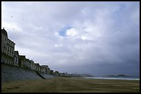 Waterfront and beach, Saint Malo. Brittany, France ( color)