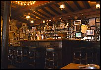 Inside a bar, Saint Malo. Brittany, France (color)