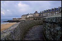 Along the ramparts of the old town, Saint Malo. Brittany, France