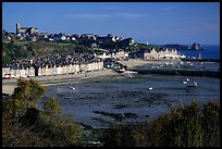 Cancale at low tide. Brittany, France (color)