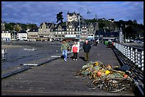 Pier and waterfront of Cancale. Brittany, France (color)