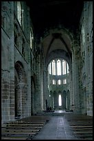 Austere chapel inside the Benedictine abbey. Mont Saint-Michel, Brittany, France (color)