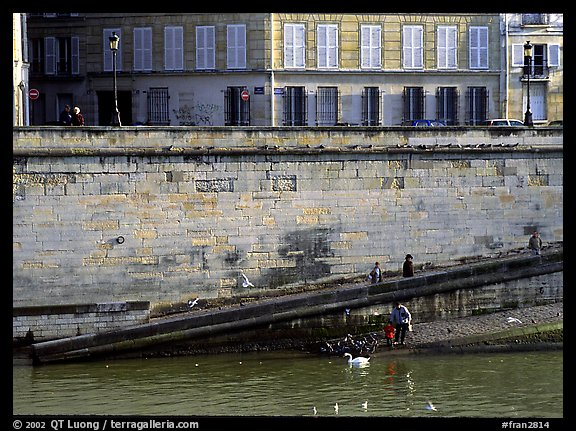 Ramp on Saint-Louis island. Paris, France