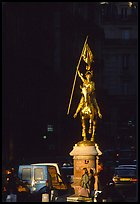 Statue of Joan of Arc on the place des Victoires. Paris, France (color)