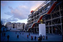 Georges Pompidou center and Beaubourg plaza. Paris, France (color)