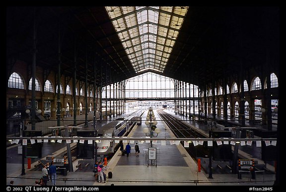 picture photo gare du nord train station paris france. Black Bedroom Furniture Sets. Home Design Ideas