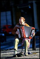 Accordeon player on the street. Paris, France ( color)