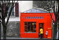 Red Cordonnnerie store. Paris, France ( color)