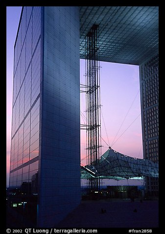 Grande Arche at dusk, La Defense. France