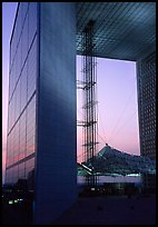 Grande Arche at dusk, La Defense. France (color)