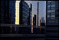 Reflections in modern office buildings, La Defense. France