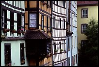 Half-timbered houses. Strasbourg, Alsace, France (color)