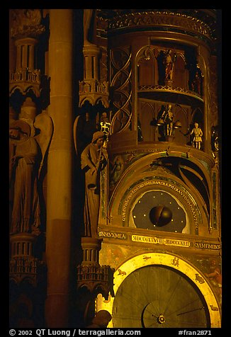 Astrological clock inside the Notre Dame cathedral. Strasbourg, Alsace, France