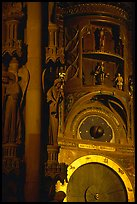 Astrological clock inside the Notre Dame cathedral. Strasbourg, Alsace, France (color)