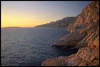 Calanque de Morgiou at sunset. Marseille, France ( color)