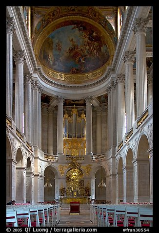 Chapel of the Versailles palace. France (color)