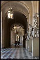 Versailles Palace corridor. France (color)