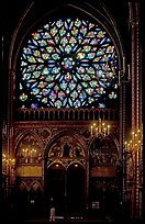 Rosette in the upper Holy Chapel. Paris, France