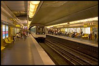 Franklin Roosevelt subway station. Paris, France (color)