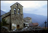 Church in high perched village. Maritime Alps, France