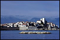 Antibes ramparts, and old town. Maritime Alps, France