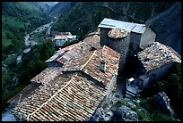 Rooftops in high perched Village. Maritime Alps, France