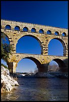 Bridge of the river Gard. France ( color)