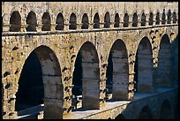 Upper and middle levels of Pont du Gard. France