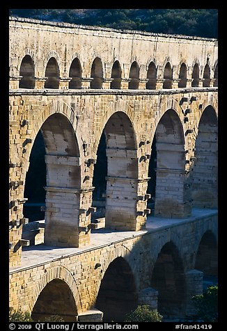 Arches of Pont du Gard. France (color)