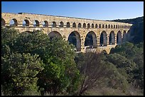 Pont du Gard spanning Gardon river valley. France ( color)
