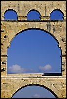 Arches detail, Pont du Gard. France ( color)