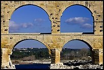 Lower and middle arches, Pont du Gard. France ( color)