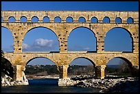 Pont du Gard Roman Aqueduct. France ( color)