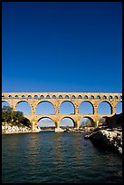 Roman Aqueduct and bridge over the Gard. France ( color)