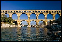 Gard River and Pont du Gard. France ( color)