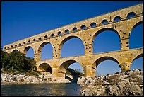 Roman aqueduct over Gard River. France ( color)