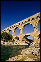 River Gard and Gard Bridge. France