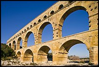 Ancient Roman Aqueduct, Gard River. France ( color)