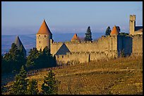 Historic fortified city. Carcassonne, France ( color)