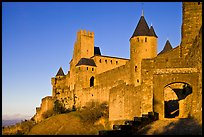 Fortress and gate, late afternoon. Carcassonne, France